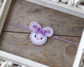 Felt Lavender and White Bunny Easter Headband Photography Prop Newborn Headbands Baby Girl Headbands Toddler Headbands Spring