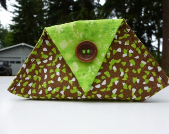brown and lime green thread catcher