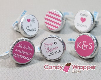 Wedding Hersheys Kisses Set of 6 designs