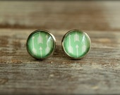Arrow Glass Cab Earring Studs, Available in Multiple Colors