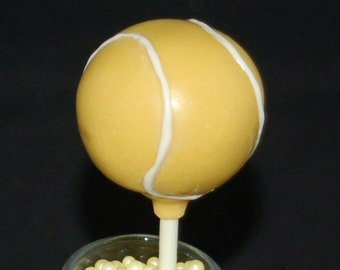 TENNIS BALLS Cake Pops, Sports Cake Pops, Sports Party Favors
