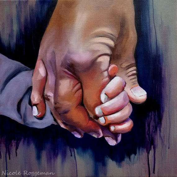 Father and son, Holding Hands, Grandpa and Grandson, Grandchild, Papa, family grandfather clasped hands, Nicole Roggeman, fathers day gift