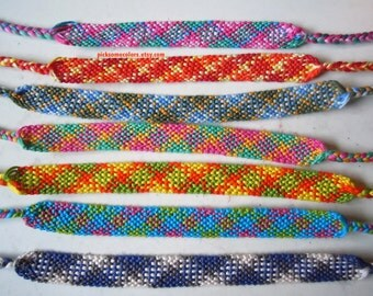 Custom Plaid Friendship Bracelet