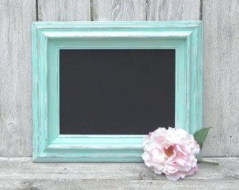 Shabby Chic Mint Chalkboard/Blackboard, Wedding Chalkboard, Menu Board, Home Decor