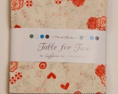 Valentine Item - Table for Two Fabric Collection by Sandy Gervais for Moda Fabrics - 1 Charm Pack