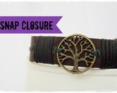 Leather Men's Bracelet, Tree Of Life Bracelet, Pagan Bracelet, Celtic Leather Bracelet, Woodland Bracelet, Nordic Leather Cuff, Elven Cuff