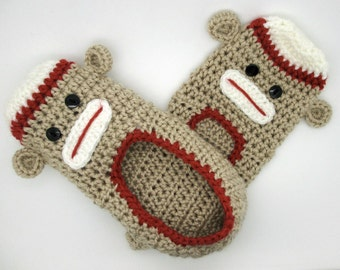 Free Crochet Pattern Sock Monkey Slippers : Crochet Sock Monkey Slippers ? Quick And Easy Crochet