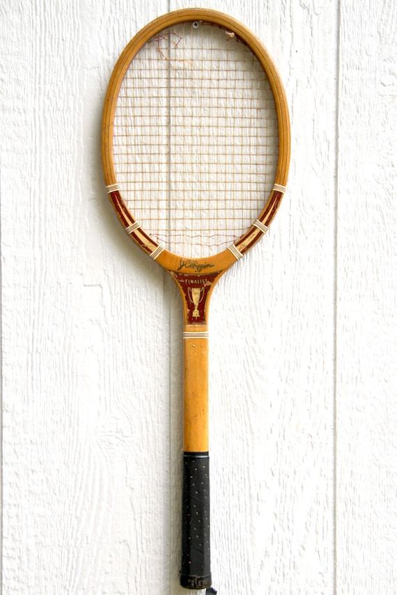 Wooden Tennis Racket / Wood Tennis Racket / Tennis Racquet / Old Tennis Racket / Wood Tennis Racquets / Vintage JC Higgins Finalist