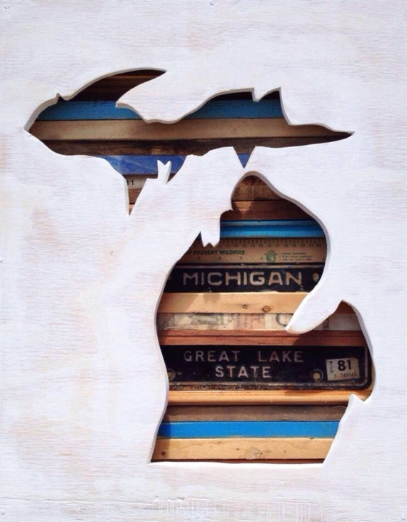 """Reclaimed Wood Art - Say, """"Yes"""" to Michigan"""