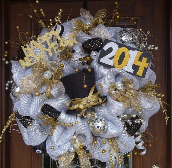 30 Deluxe Deco Mesh New Year S Wreath
