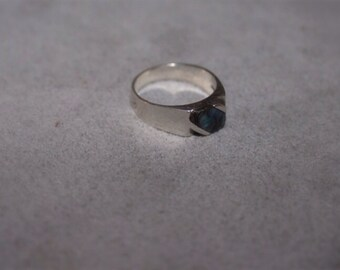 vintage abolone sterling ring bohemian beach finger flair sterling silver 925 eco hippie