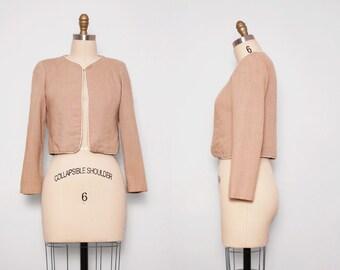 1950s Khaki Jacket / Vintage 50s Blazer / Small