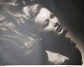 George Hurrell Signed Portrait Of Veronica Lake