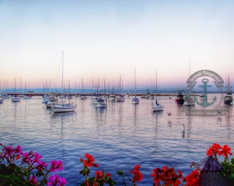 Monterey Bay Sunset Waterfront Fine Art Photograph At Checkout, Choose Lustre Print or Gallery Wrapped Canvas