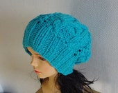 cable knit hat slouchy women and men  High Heat Cap - original model in braids - Oversized Hat - knit hat slouchy Unisex  Beanie hat #1