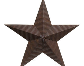 Brown Amish tin star