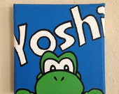 5in x 5in Yoshi Painting