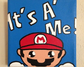 5in x 5in Mario Painting