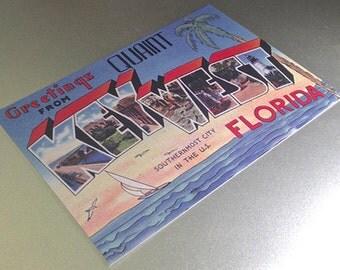 Key West Vintage Save the Date Postcard - RESERVED LISTING