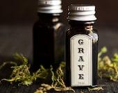 Grave Perfume Oil ™ - Cedar, Clove, Vanilla, Amber, Bergamot, Pine