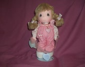"Vintage 1985 Precious Moments ""Valerie"" Ballerina Girl Doll On Original Stand With Tags"