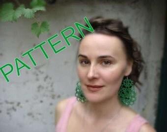 Tatting - pdf pattern - earrings pattern - jewelry pattern - instant download - jewelry tutorial- needlecraft - OOAK - needlework pattern