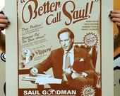 Breaking Bad 'Better Call Saul' Hand Pulled Limited Edition Screen Print