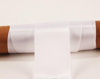 White Satin Ribbon - 50 Yards - 1.5 inch - Invitation Making, Wedding, Shower, Baby, Favors