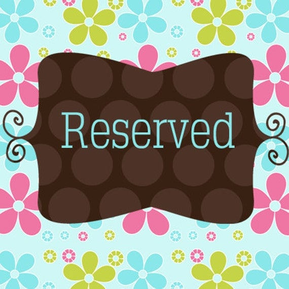 This is a Reserved Listing for Natalie