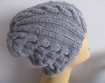 Knit Unisex Gray Beanie Hat, Gray Beanie Hat, Usa Seller