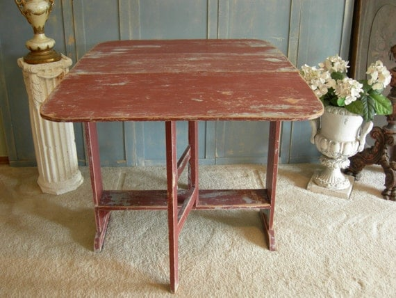 GATELEG TABLE Dropleaf Old Shabby Paints Antique Furniture Painted Furniture The Shabby Chic Furniture Farmhouse Table