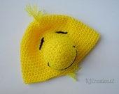 SALE-Fun Yellow bird hat-Newborn to adult-made to order-Halloween