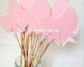 REUSABLE 12 Bows on a Stick Party Photo Props Baby Gender Reveal