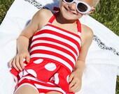 Arielle's Tankini PDF Pattern Sizes 24m/2T to 8 girls