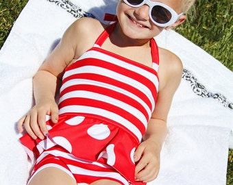 Arielle's Tankini PDF Pattern Sizes 24m/2T to 8 girls