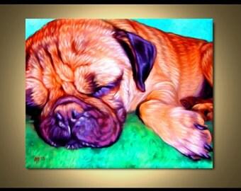 Pug Portrait | Custom Pug Portrait | Pug Painting From Your Photos | Pug Art by Iain McDonald