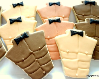 Six pack abs - Male Torso- Male Bare Chest- Exotic Dancer Cookie Favors(#2334)