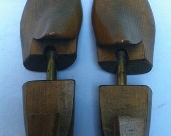 Vintage wood shoe forms size 40
