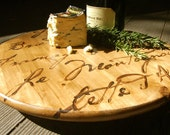 FRENCH CHEESE BOARD - lazy susan, cheese board, wooden cutting board, custom cutting board,personalized cutting board,gift