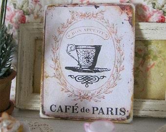 Cafe de Paris Print for Dollhouse