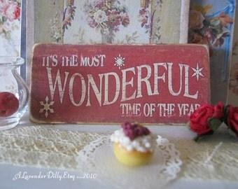 Wonderful Christmas Sign/Print for Dollhouse