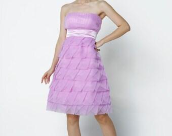 On Sale Size XXS Light Purple Wedding dress/Tulle party dress/ bridesmaid dress/Prom/ handmade/ knee length formal dress - NC523-1