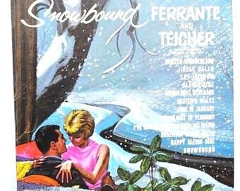 "Ferrante & Teicher 1960s ""Snowbound"" Piano LP Record Album, Vintage Christmas Romantic Kitsch Cover Art Collectible"