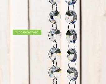 3 Feet Crystal Glass Garland Chain Strands for Wedding Centerpiece Decorations and Party Decor