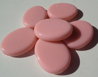 20% off, Light Pink flat oval shaped acrylic beads,  F21, 29.5mm*24.5mm, 2mm hole
