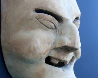 Vintage Hand Carved Wooden Mask / Folk Art