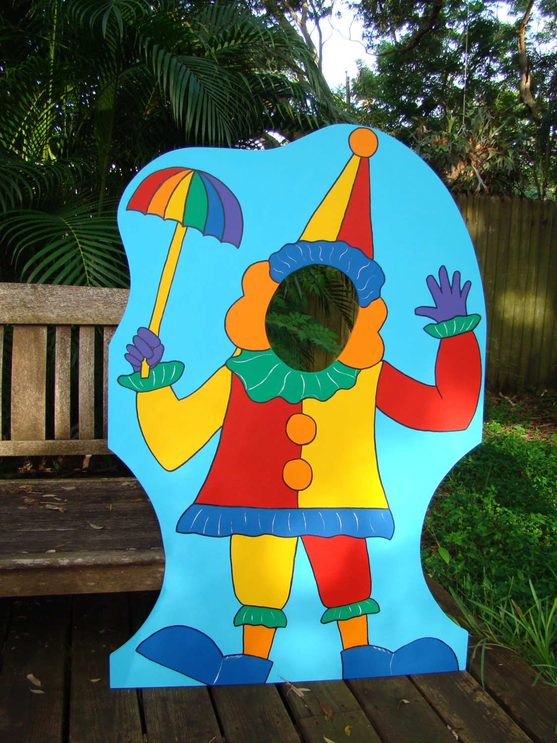 Circus or carnival themed party photo props 4 39 ht clown for Clown dekoration