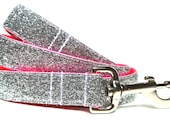 "Sparkle Dog Leash 1"" Neon Pink Dog Leash"