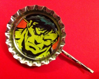 Handmade Vintage The Hulk Hair Slide
