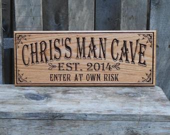 man cave bar. Man cave bar sign  Pub gift for him Tavern decor Groomsmen Gift Etsy